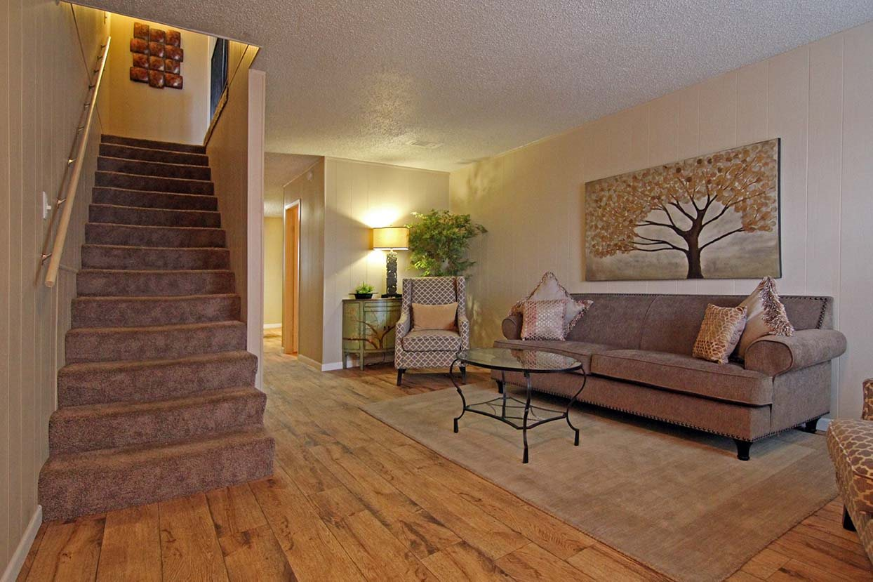 Living Room at Brookside Apartments in Hewitt, TX